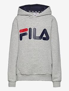 TEENS ANDREA classic logo hoody - hettegensere - light grey melange bros