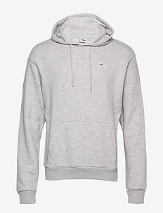 MEN EDISON hoody - basic sweatshirts - light grey melange bros