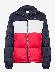 WOMEN SUSI puff jacket - dun- & vadderade jackor - black iris-true red-bright white