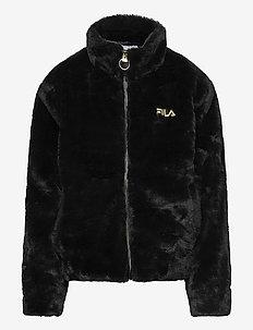 TEENS ROSIE fake fur jacket - faux fur - black