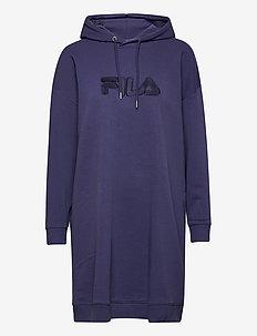 WOMEN FELICE oversized hoody dress - vapaa-ajan mekot - crown blue