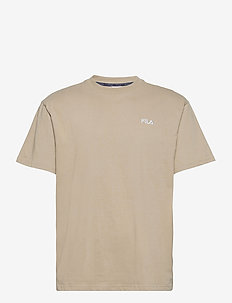 MEN FONDA oversized dropped shoulder tee - t-shirts - oxford tan
