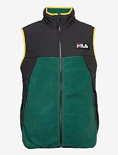 MEN CIAR fleece vest - veste sport - storm-black