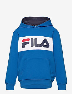 KIDS UNISEX BRUTUS basic logo hoody - hoodies - skydriver-bright white