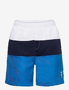 KIDS BOYS NICOLO swim shorts - urheilu-uima-asut - skydiver-black iris-bright white
