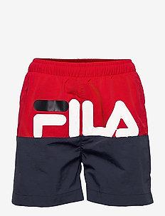 KIDS BOYS STEFANO swim shorts - swimshorts - black iris-true red