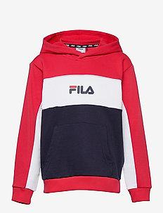 TEENS GIRLS TRACY hoody - hoodies - black iris-true red-bright white