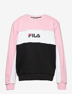 TEENS GIRLS OLENA blocked crew - sweat-shirt - black-coral blush-bright white