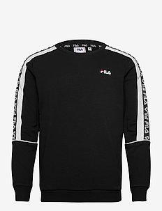 MEN TEOM crew sweat - bluzy i swetry - black-bright white