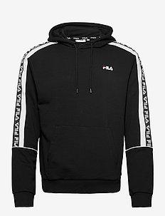 MEN TEFO hoody - kapuzenpullover - black-bright white