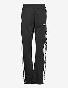 WOMEN TAO track pants overlength - spodnie dresowe - black-bright white