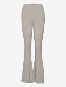 ELWYN ribbed flared stretch trouser - urheiluhousut - light grey melange bros