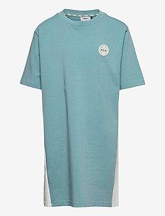 TEENS GIRLS PATSY tee dress - kleider - cameo blue-snow white