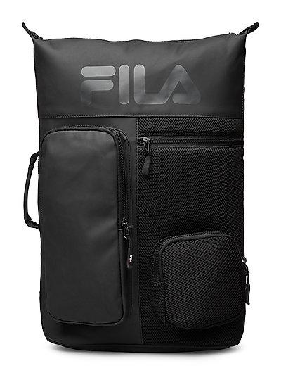 Backpack Frosted Pu-3d Mesh Rucksack Tasche Schwarz FILA