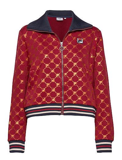 Women Lerdidwen Aop Track Jacket Sweat-shirt Pullover Rot FILA