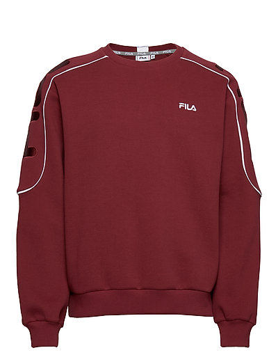 Men Mahak Crew Sweat Sweat-shirt Pullover Rot FILA