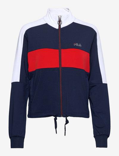 PAPAGENA track jacket - sweats et sweats à capuche - black iris-true red-bright white