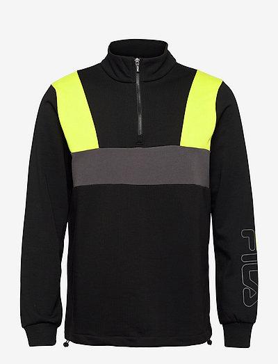 PARESH half zip sweat - sweats - black-asphalt-sulphur spring