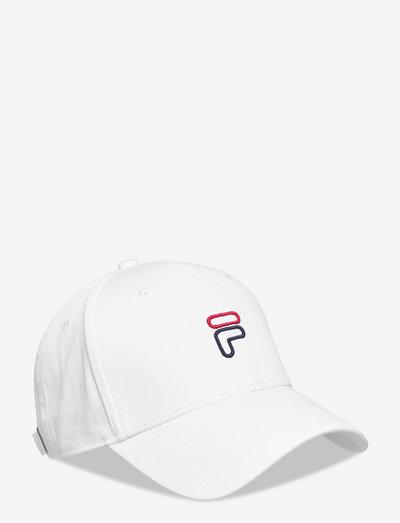"6 PANEL CAP ""F"" OUTLINE LOGO - casquettes - bright white"