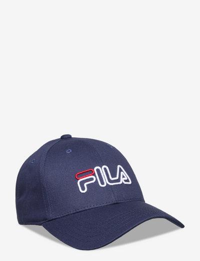 6 PANEL CAP OUTLINE LOGO - casquettes - black iris