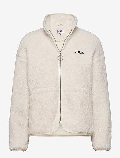 WOMEN SARI sherpa fleece jacket - fleece - eggnog