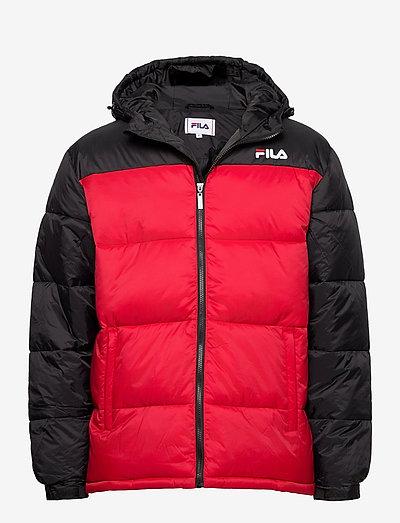 SCOOTER puffer jacket - veste sport - black-true red