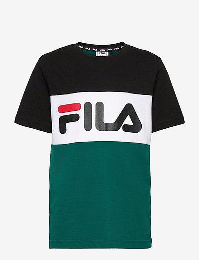 MARINA blocked tee - t-shirts à manches courtes - storm-black-bright white