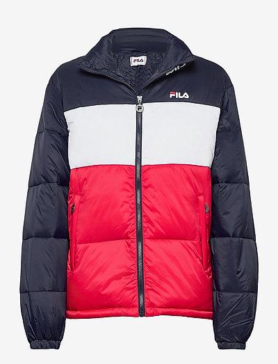SUSI puff jacket - veste sport - black iris-true red-bright white