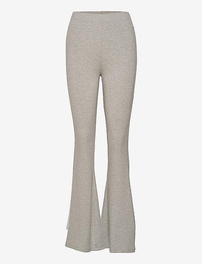 ELWYN ribbed flared stretch trouser - pantalon de sport - light grey melange bros