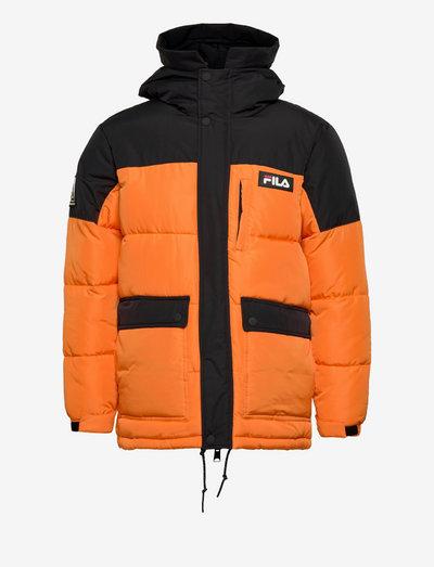 YVES puff jacket - veste sport - russet orange-black