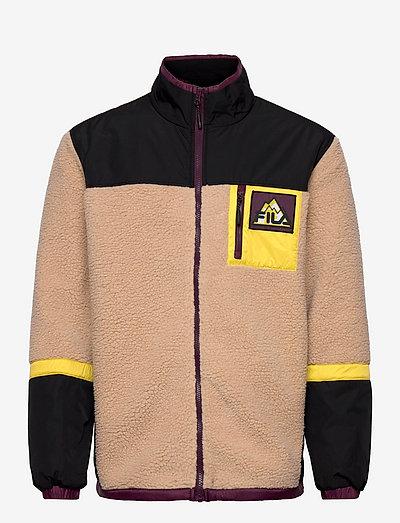 YAIR sherpa jacket - vestes couche intermédiaire - cuban sand-black-warm olive
