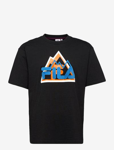 YORICK graphic tee - t-shirts - black