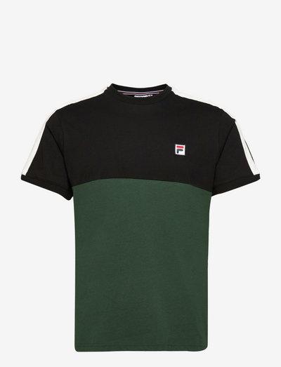 CIAN blocked tee - t-shirts - sycamore-black-blanc de blanc