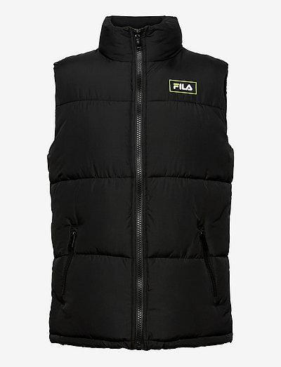 DIK blocked puffer vest - veste sport - black