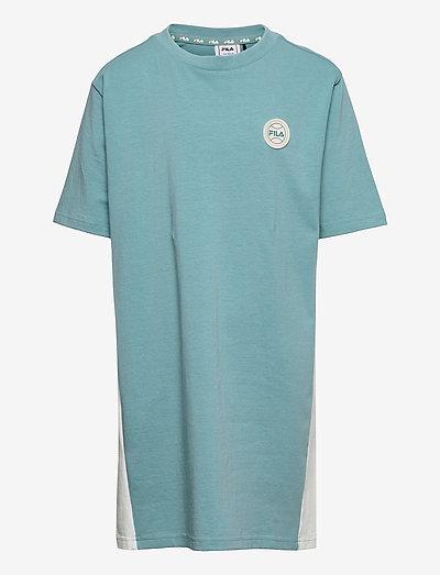 TEENS GIRLS PATSY tee dress - robes - cameo blue-snow white