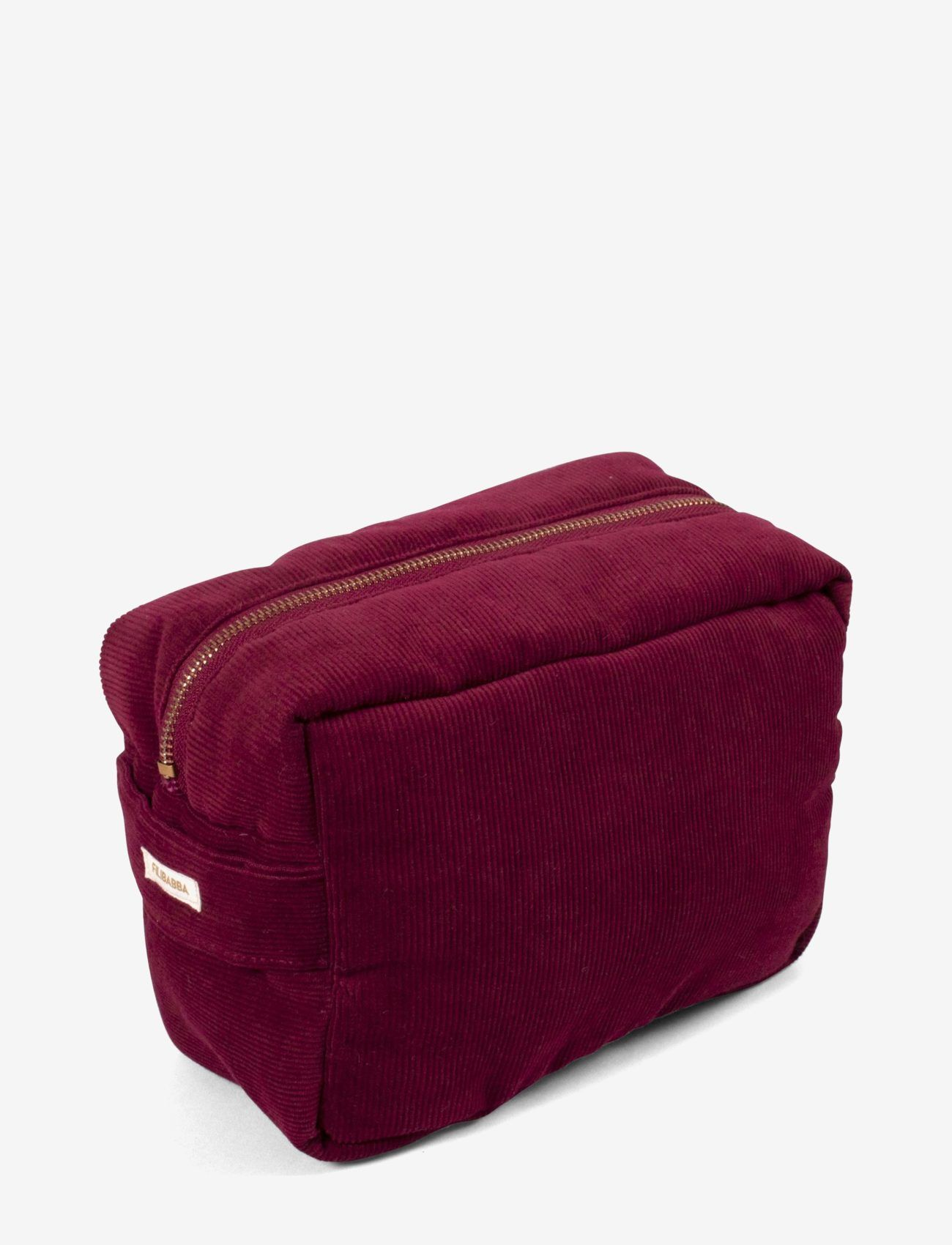 Toilet bag (small) - corduroy - deeply red