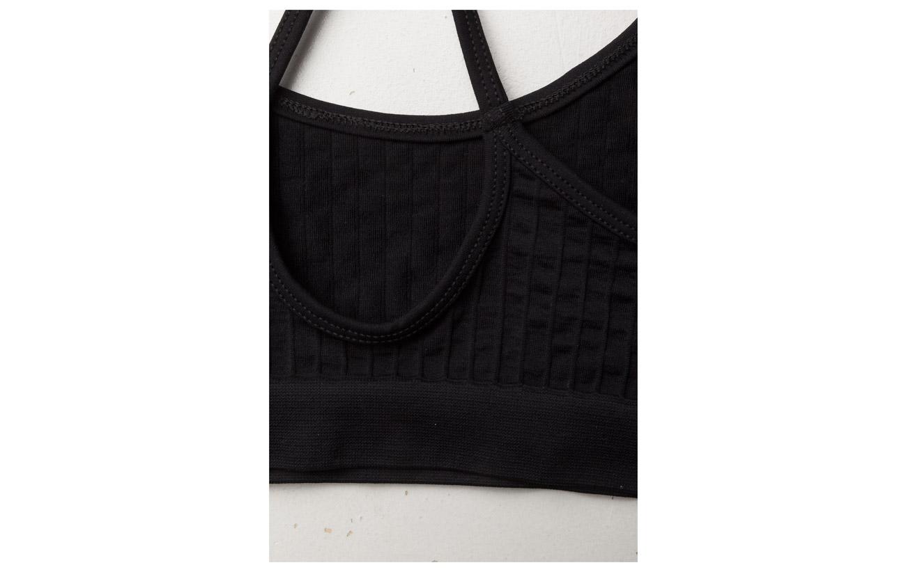 Elastane Seamless Filippa 94 6 Polyamide Black K Bra Top qfqwaAF