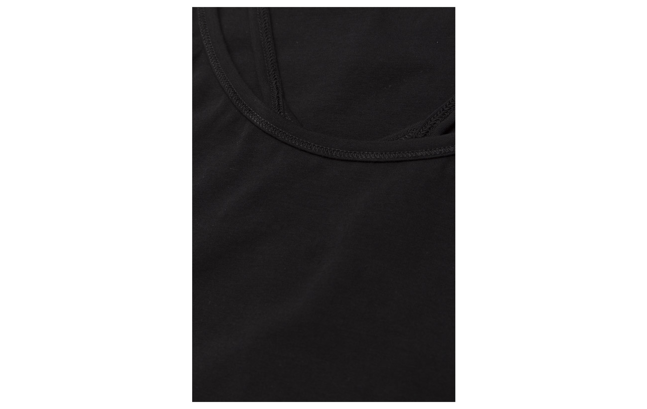 Filippa K Elastane 90 10 Tank Cotton Strap Coton Black rrSqwZxf