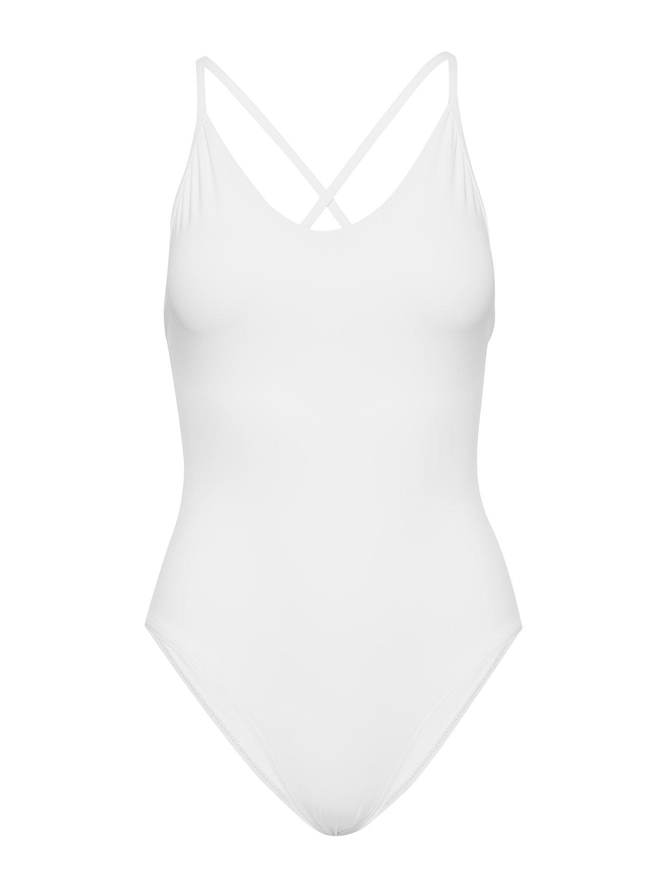 Filippa K Soft Sport Cross-back Swimsuit - OFF WHITE