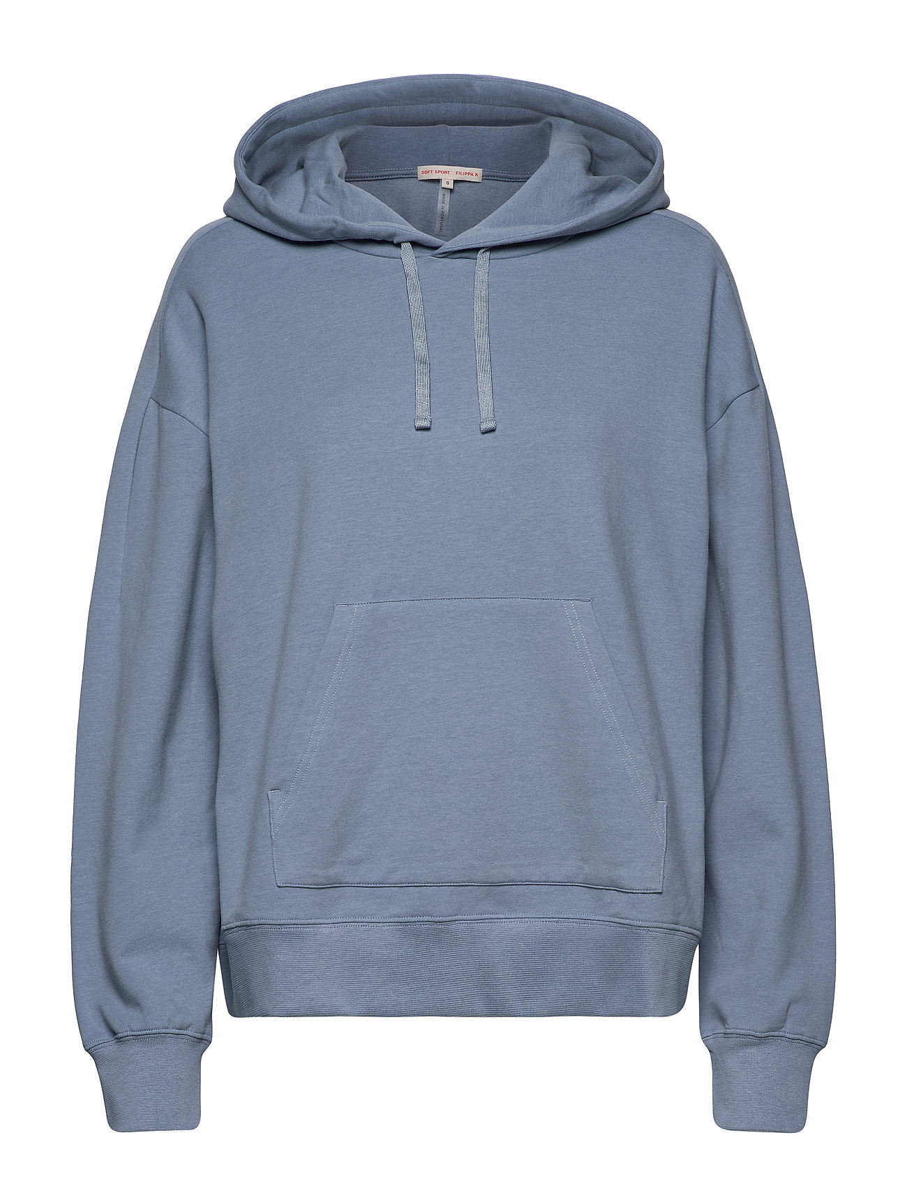 Filippa K Soft Sport Hooded Sweatshirt - MISTY BLUE
