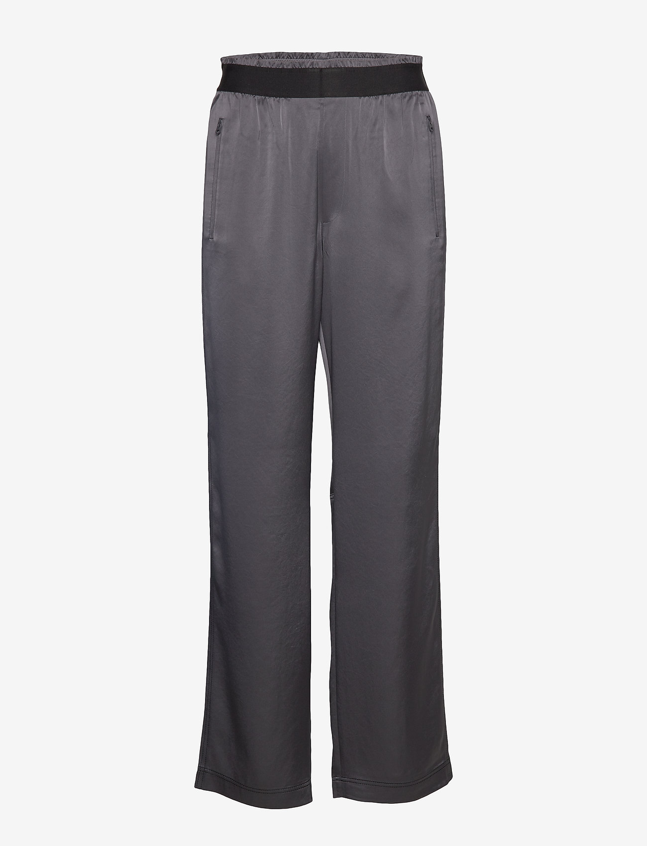 Filippa K Soft Sport - Satin Track Pant - sports pants - metal - 0