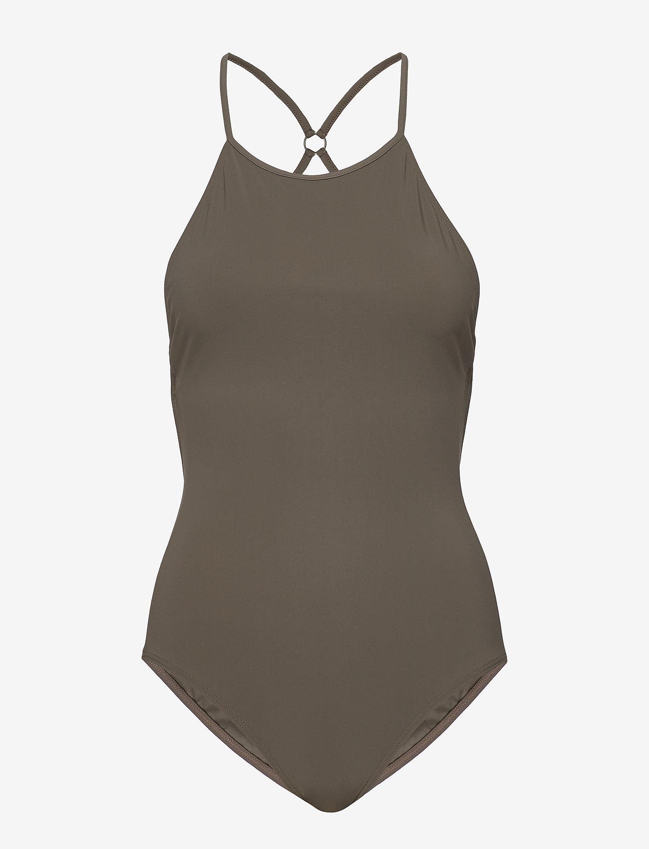 Filippa K Soft Sport - Tie-back Swimsuit - sportsbadetøy - olive
