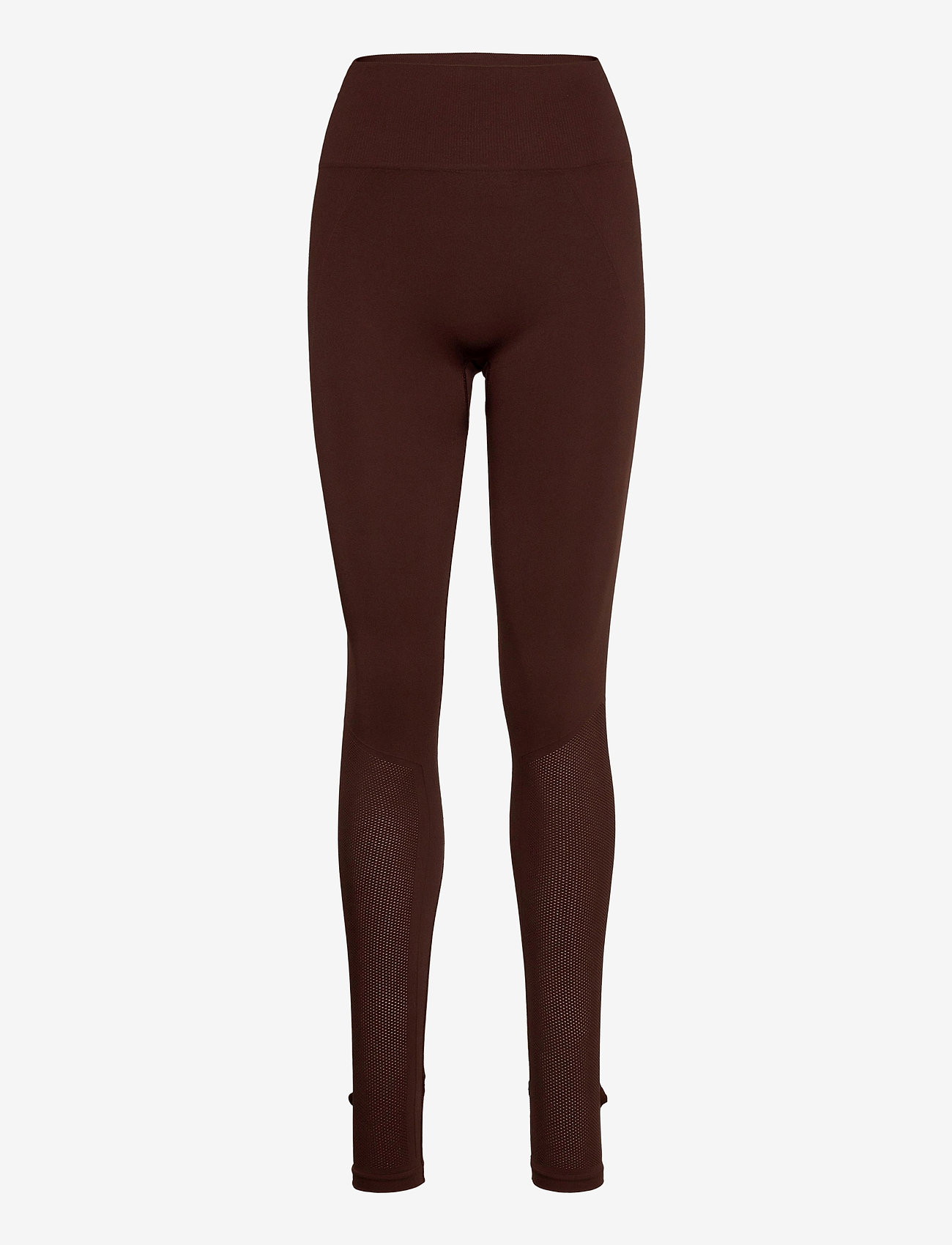 Filippa K Soft Sport - Seamless Open Heel Mesh Leggin - running & training tights - maroon - 0