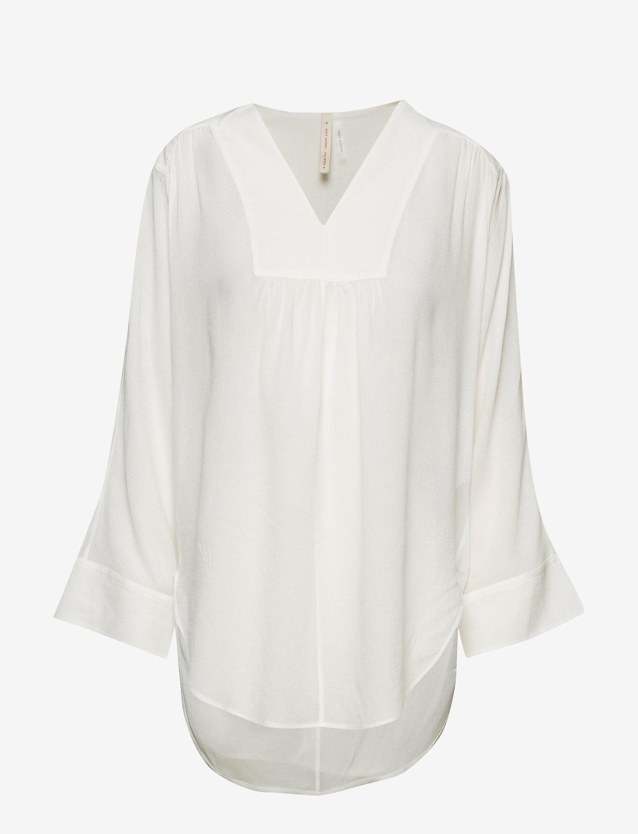 Filippa K Soft Sport - Gathered Beach Tunic - off white - 0