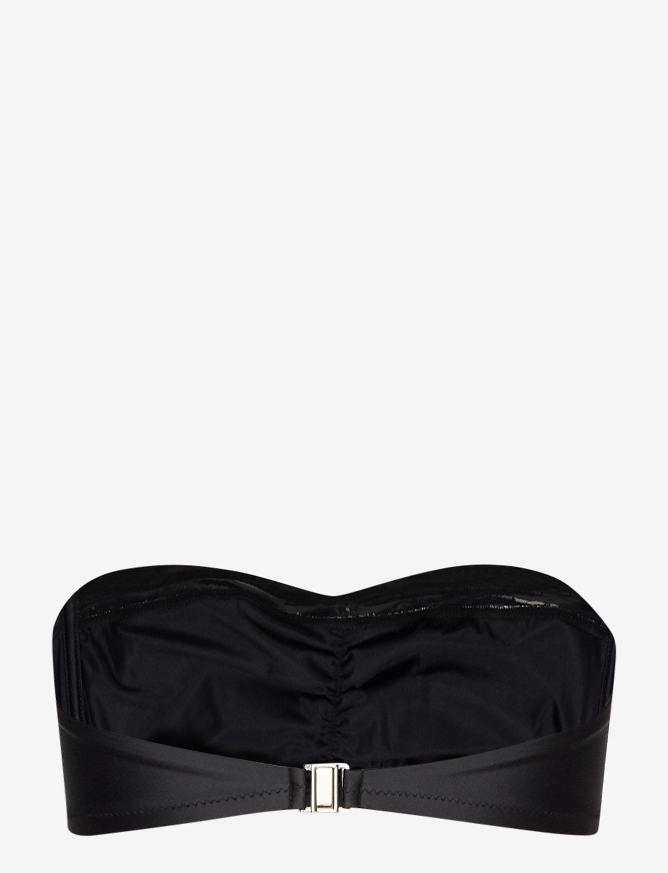 Filippa K Soft Sport - Shiny Bandeau Bikini Top - bikinitopper - black - 1