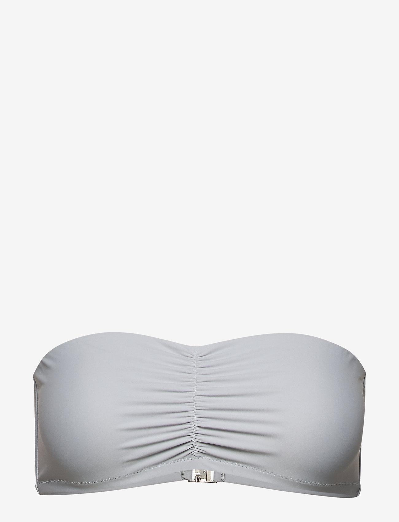 Filippa K Soft Sport - Shiny Bandeau Bikini Top - hauts de 2 pièces  - cloud - 0