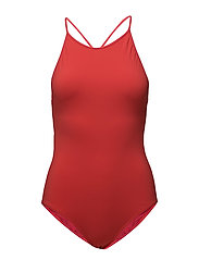 Tie-back Swimsuit - SCARLET