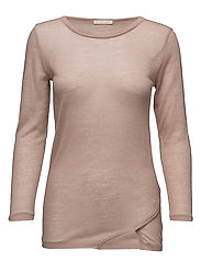Sheer Warm-up Top - ALMOND