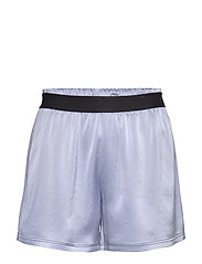 Satin Track Shorts - SKY BLUE