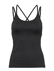 Cross Back Yoga Top - BLACK